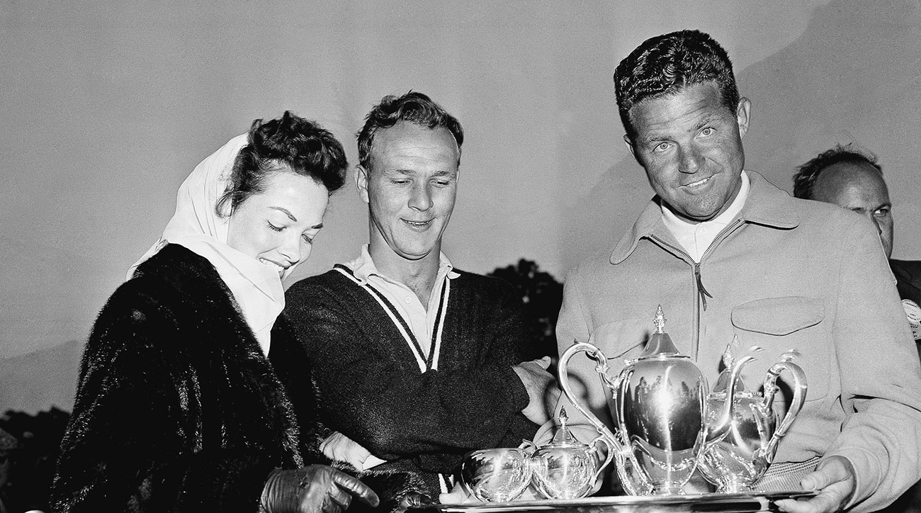 Arnold Palmer won the Azalea Open Golf tournament with four round total of 282 in Wilmington, N.C., on March 31, 1957.
