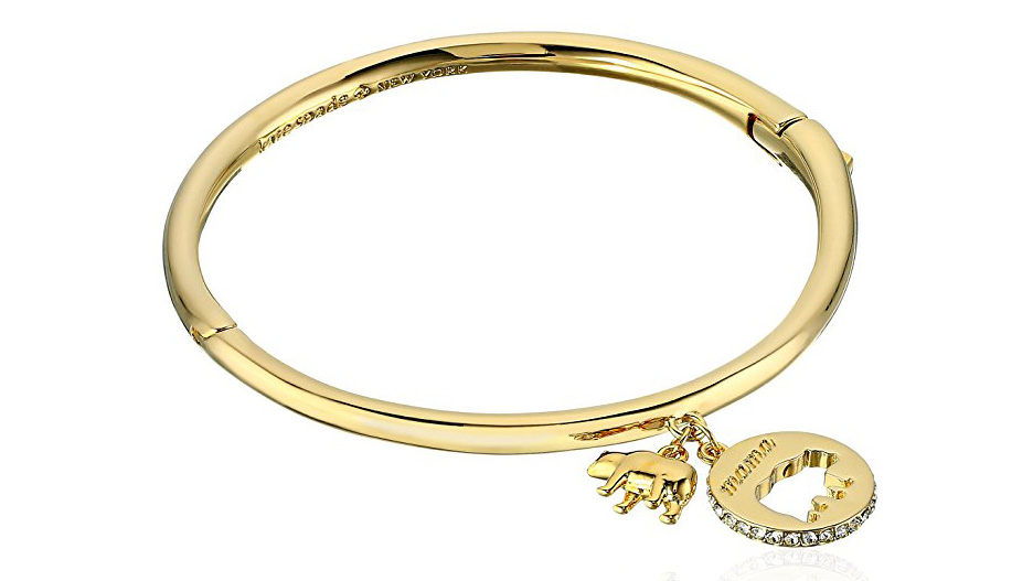 "Kate Spade's 12 karat gold plated bracelet with glass stones makes the perfect Mother's Day present. $68. <p> <a class=""standard-button"" href=""https://www.amazon.com/gp/product/B06WD3X49N/ref=as_li_qf_sp_asin_il_tl?ie=UTF8&tag=golf0527-20&camp=1789&creative=9325&linkCode=as2&creativeASIN=B06WD3X49N&linkId=3746dea12beb60905a770b06b26f8623"" target=""_blank"">BUY IT NOW</a></p>"
