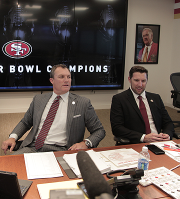 Adam Peters (right) with John Lynch