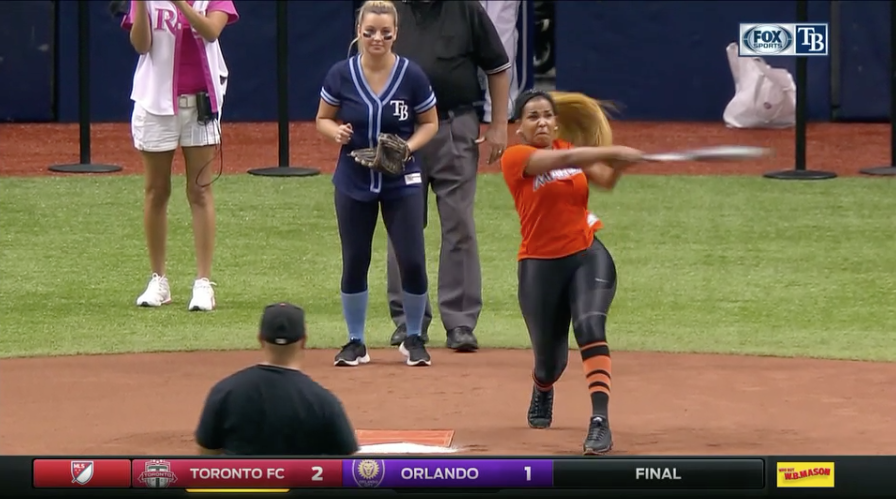 Marcell Ozuna's wife Genesis hits home run (video)