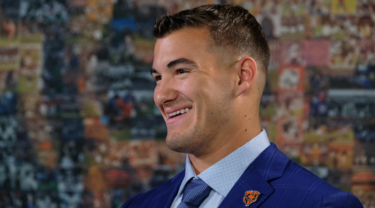 The Bears went up to get Mitch Trubisky despite signing another quarterback in free agency.