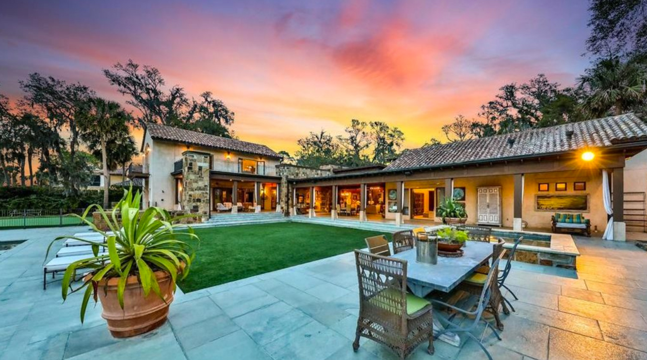 Fred Funk's sprawling 9,500+ sq. ft. home was built in 2005.