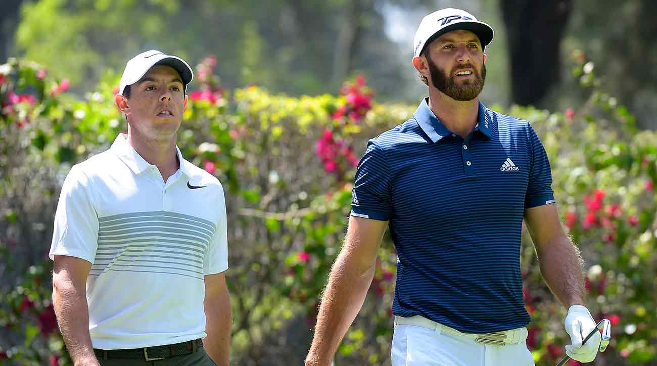 Rory McIlroy, Dustin Johnson and Justin Thomas are in the same groups for the first two rounds of the Players Championship.