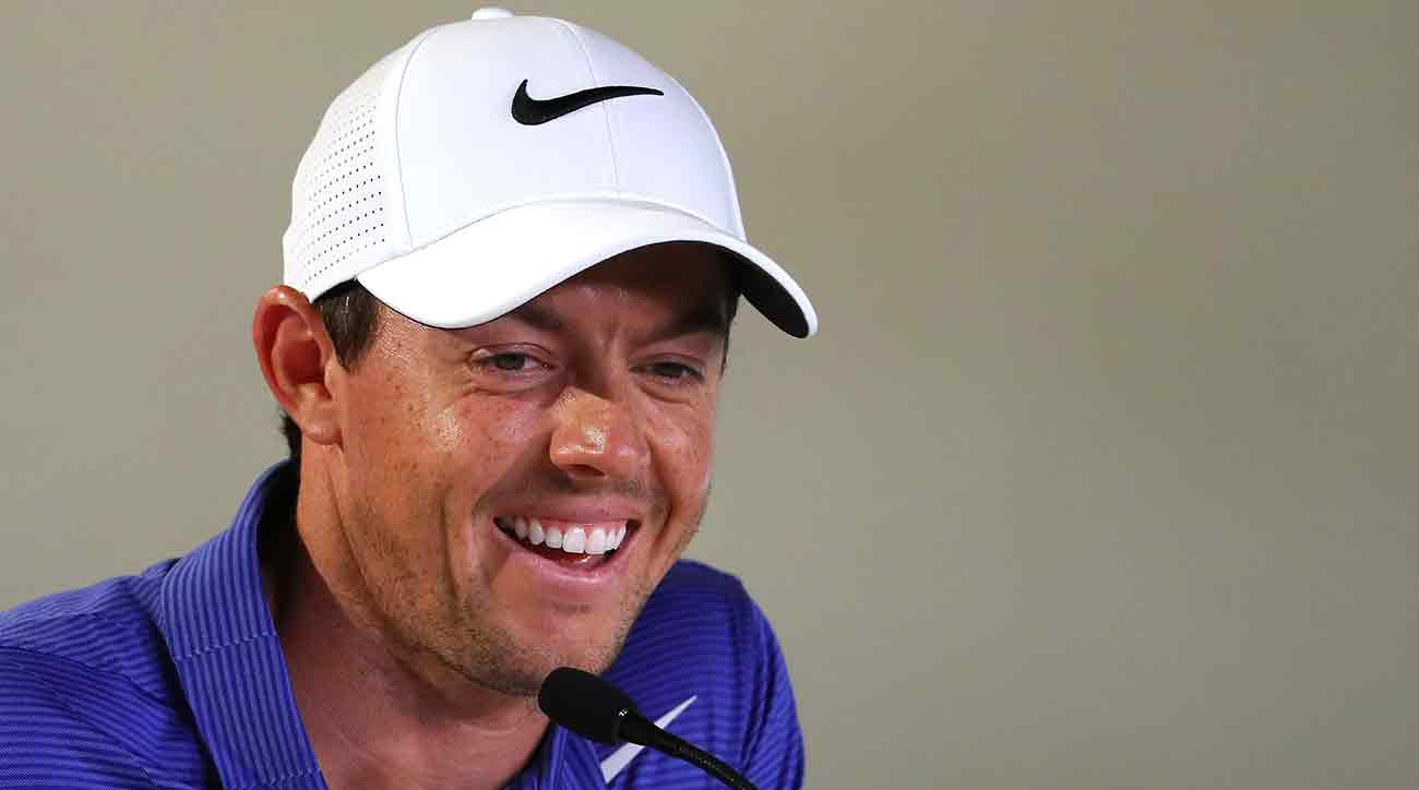 Rory McIlroy speaks to the media on Tuesday prior to the start of the Players Championship.
