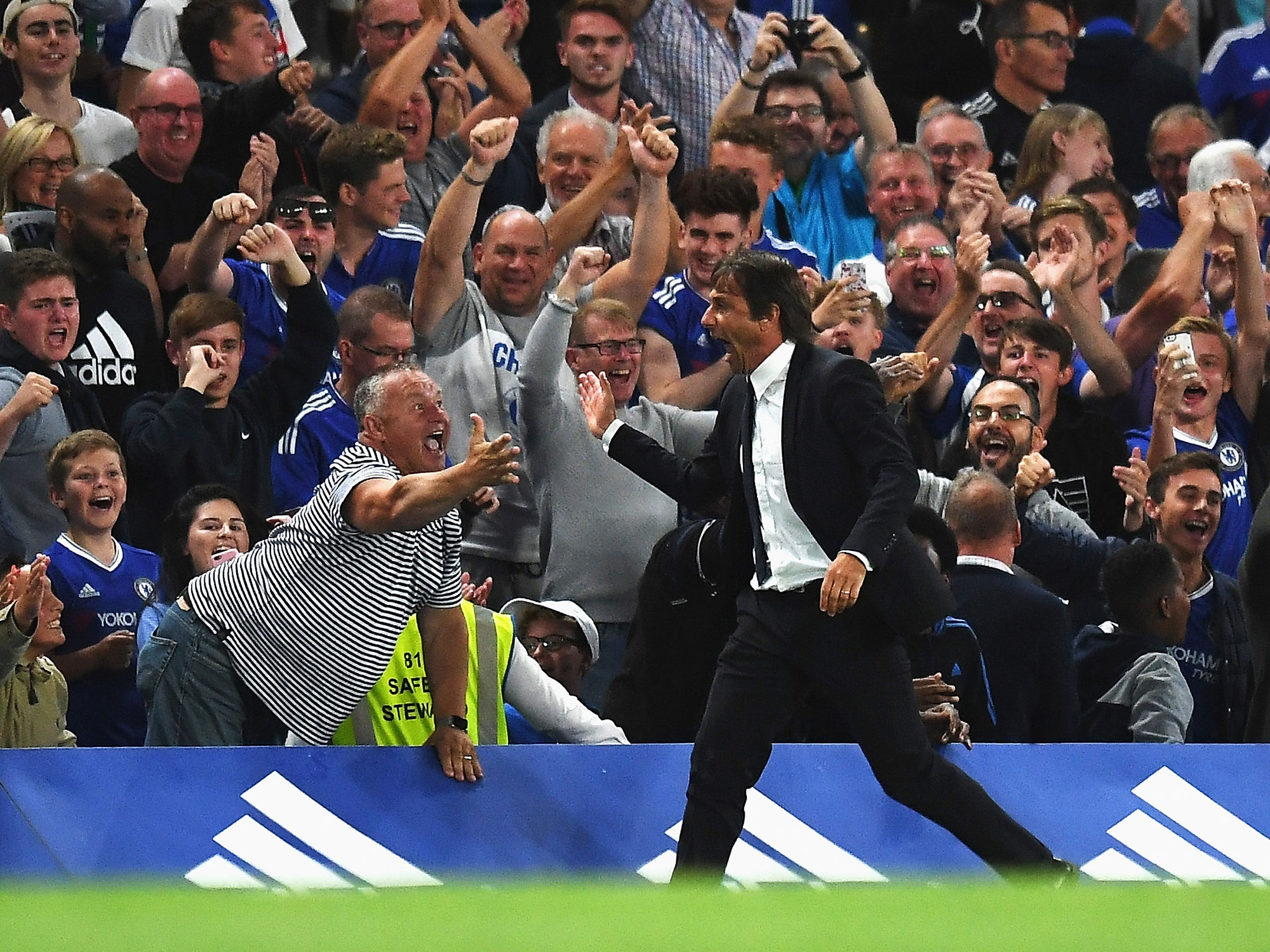 Antonio Conte has guided Chelsea to the Premier League title