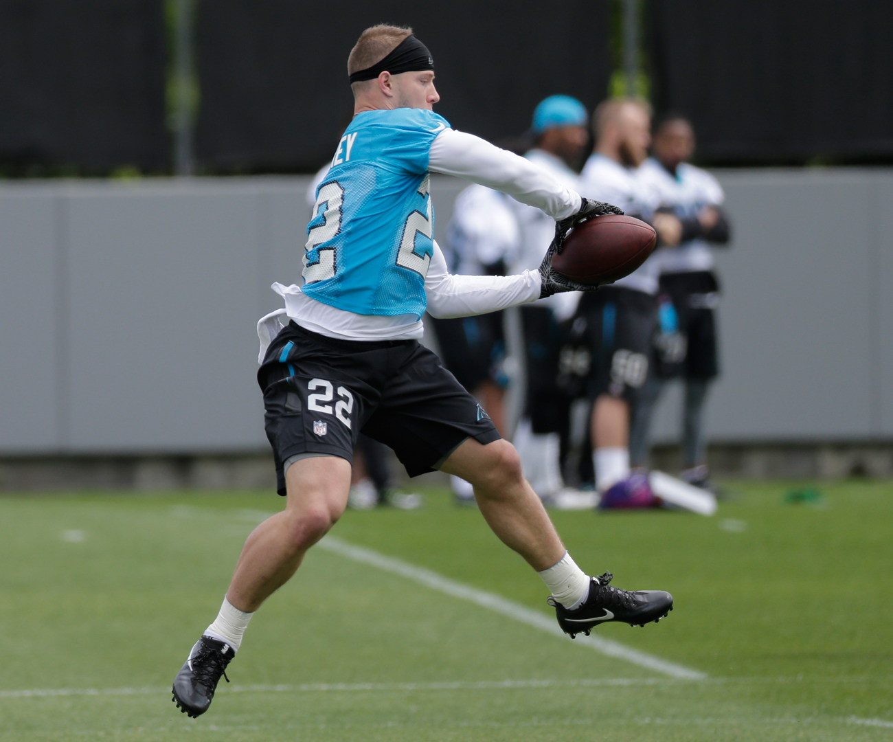 Christian McCaffrey will be used to catch balls out of the backfield—and out of the slot—in the Panthers offense.