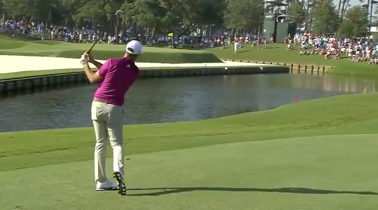 Dustin Johnson's goal on the tee box would be to make birdie. He did, but in the most abnormal of fashions.