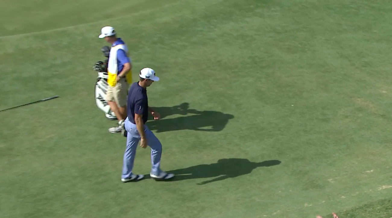 Billy Horschel was fired up after making a bogey on the 13th hole Friday. He would miss the cut.