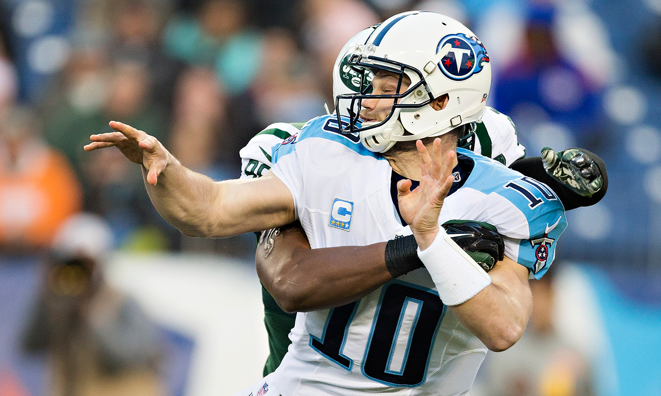 The Titans drafted Jake Locker eighth overall in 2011 and he was out of the league after the 2014 season.