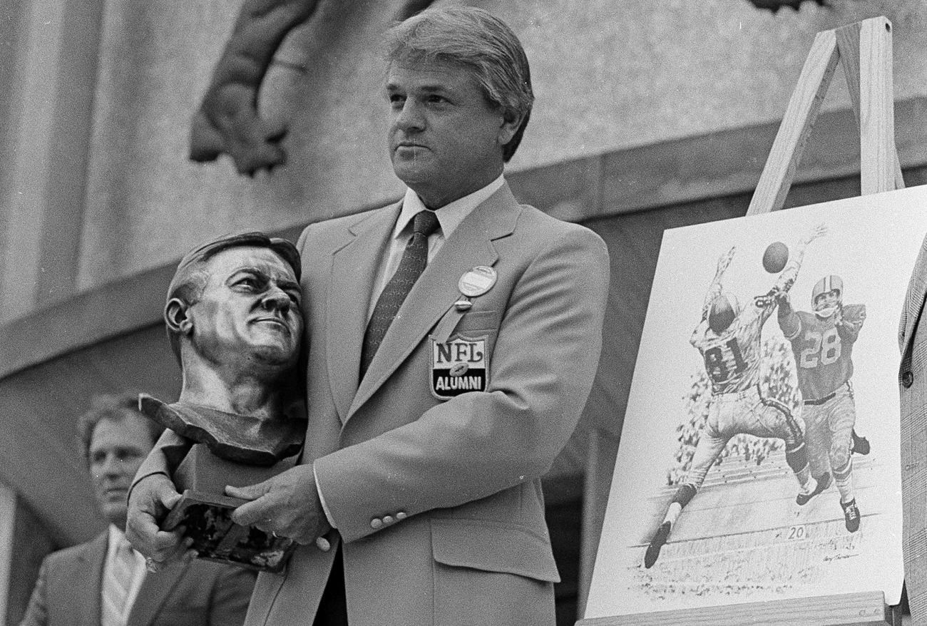 Former Lions punter-defensive back Yale Lary was inducted into the Pro Football Hall of Fame in 1979, 15 years after his playing career ended.