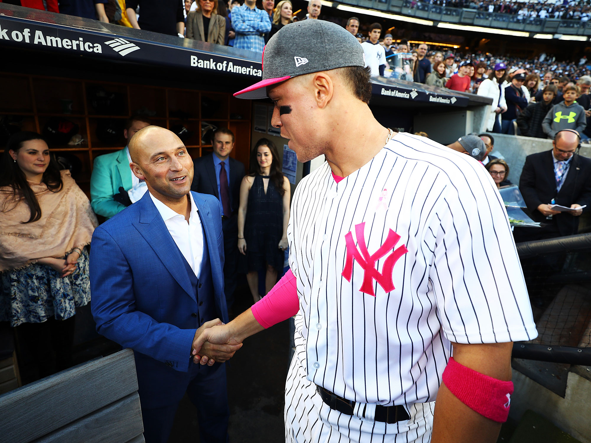 Aaron Judge and Derek Jeter, New York Yankees