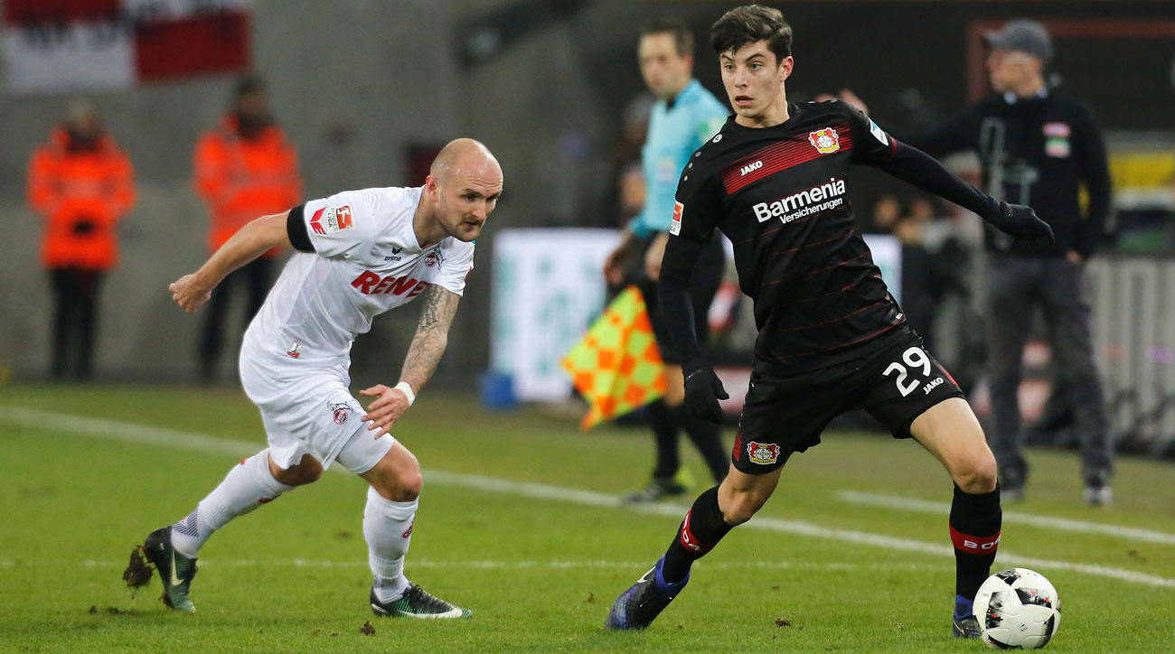 Bayer Leverkusen's Kai Havertz is a rising star for Germany