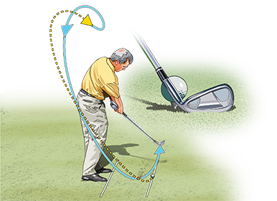 Align the hosel with the ball at setup. This encourages a shank-free, in-out path.