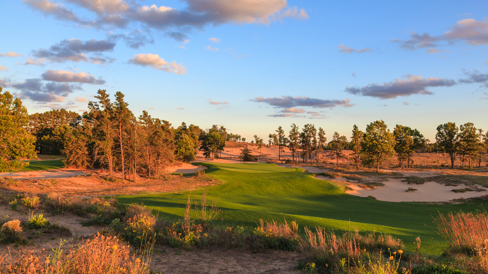 The 14th hole at Sand Valley.