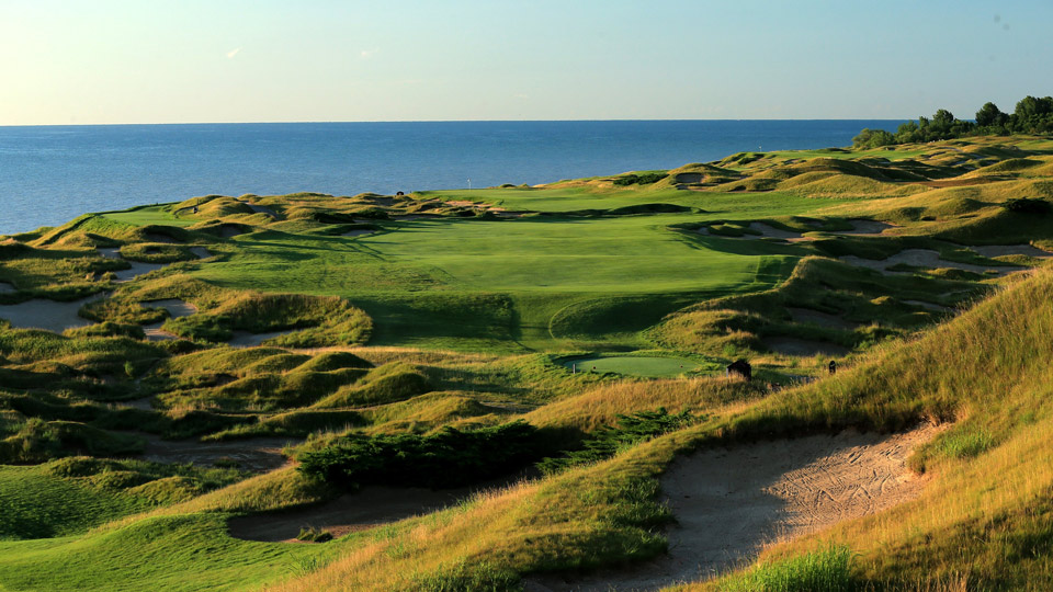 The 14th hole at Whistling Straits.