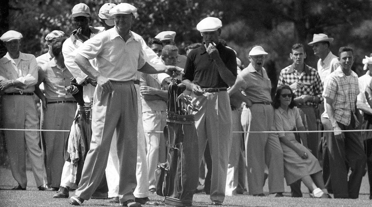 Byron Nelson and Ben Hogan, shown here at the 1954 Masters.