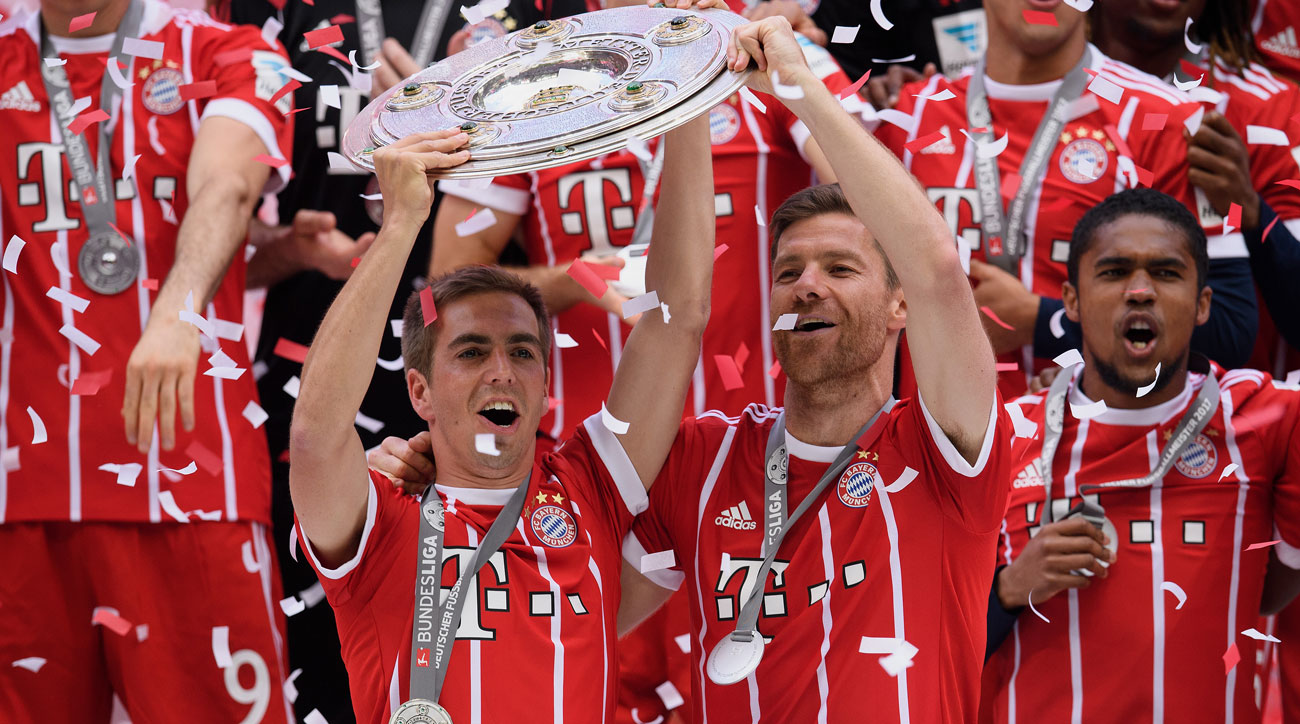 Bayern Munich's Xabi Alonso and Philipp Lahm are retiring