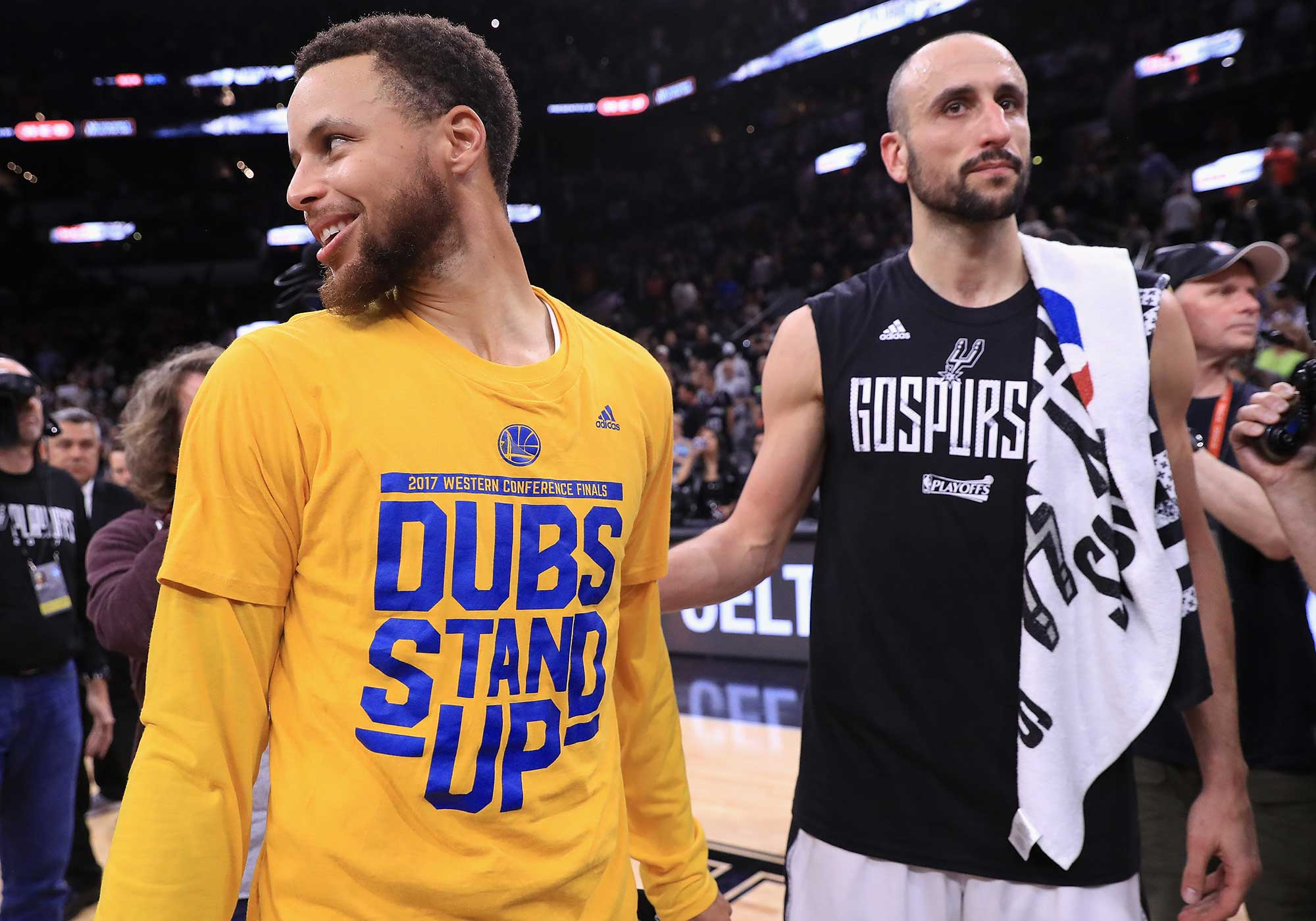 Stephen Curry and Manu Ginobili