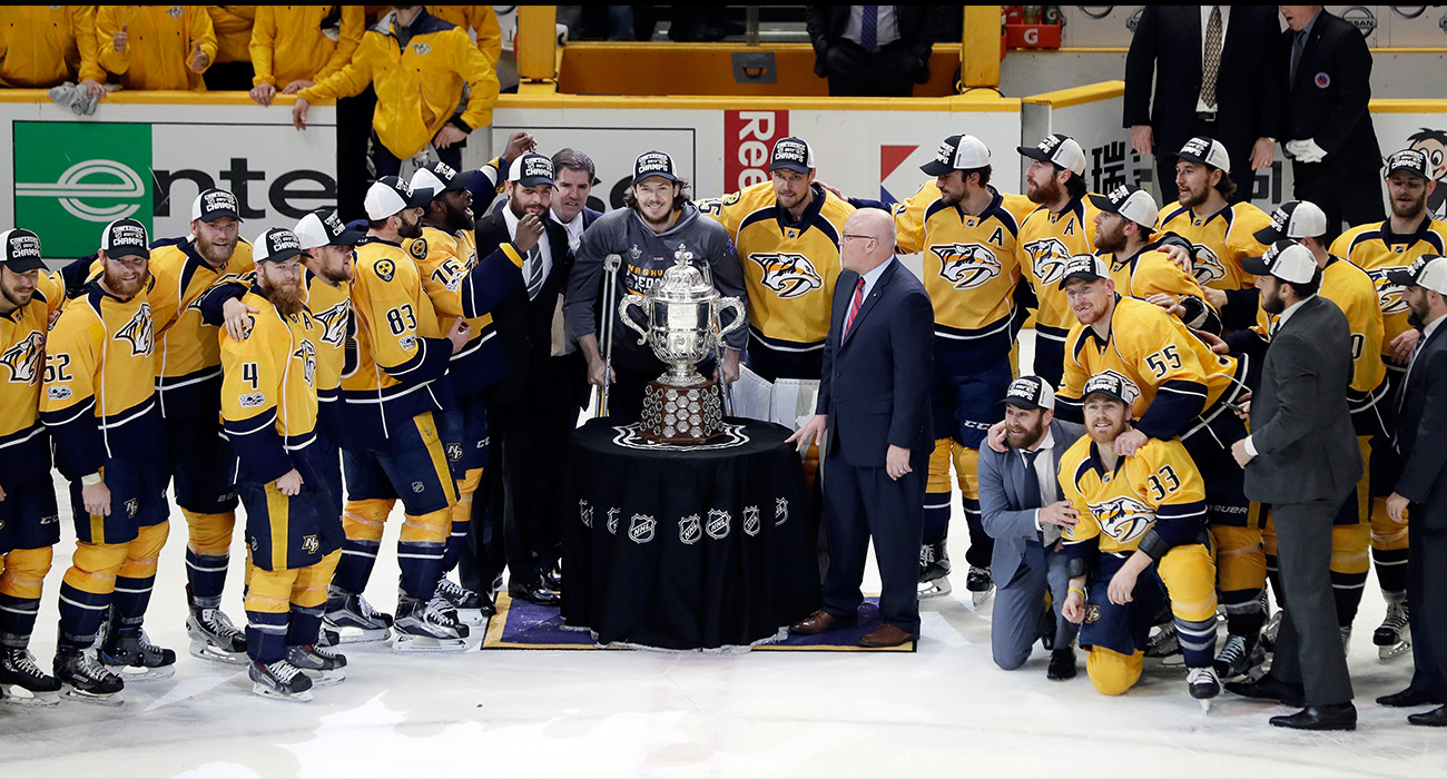 NHL Playoffs: Predators take over football-loving ...
