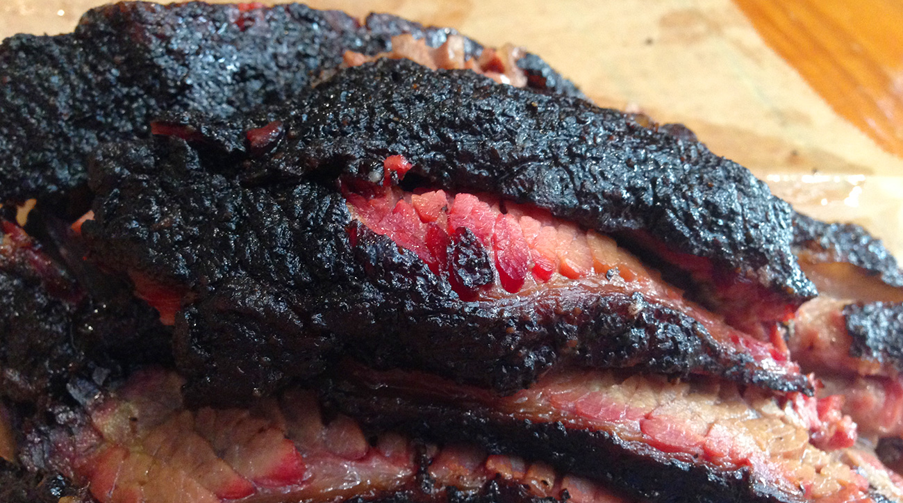 Brisket from Franklin Barbecue in Austin.