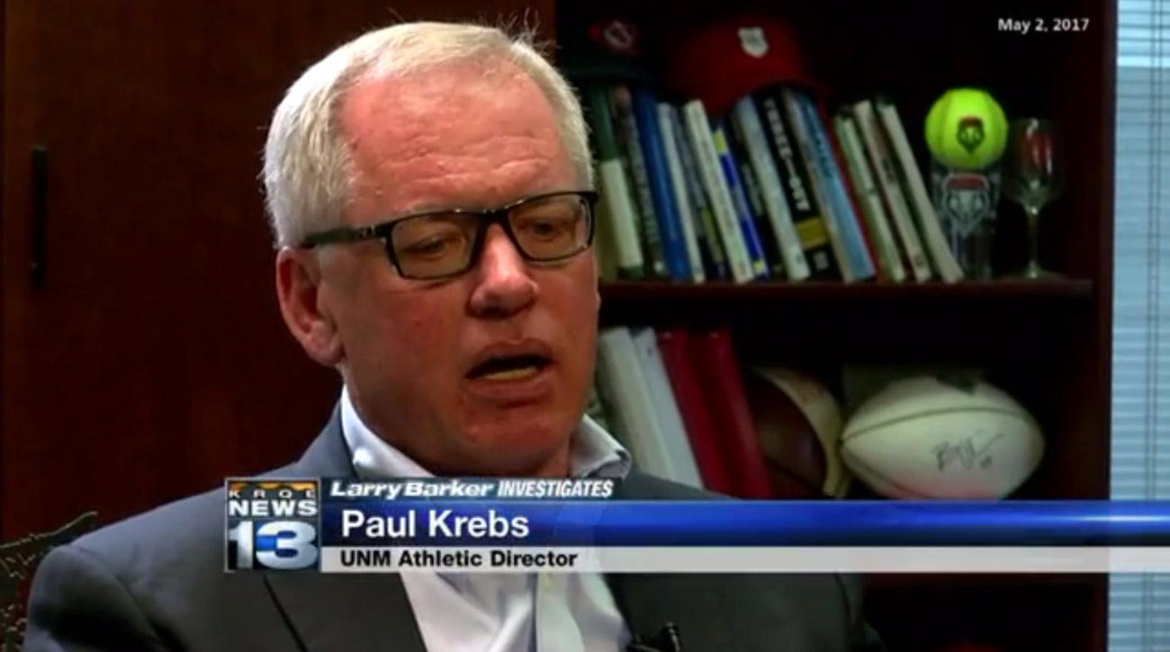University of new Mexico athletic director Paul Krebs.