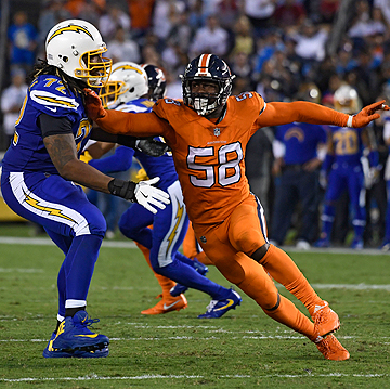Miller has had double-digit sacks in five of his six seasons in the NFL.