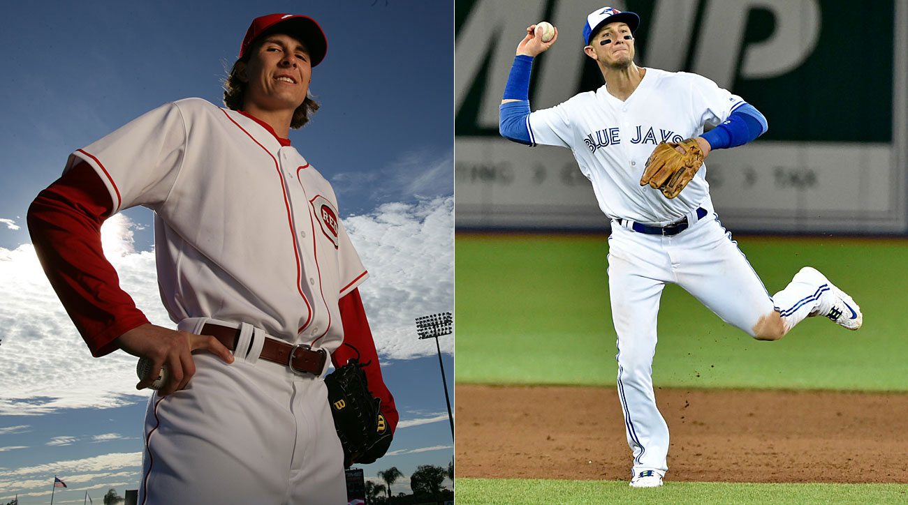 Homer Bailey, Cincinnati Reds; Troy Tulowitzki, Toronto Blue Jays