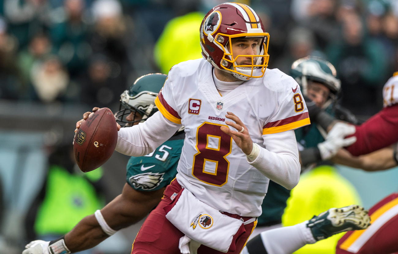 Kirk Cousins ranked third in the NFL with 4,917 passing yards last season.