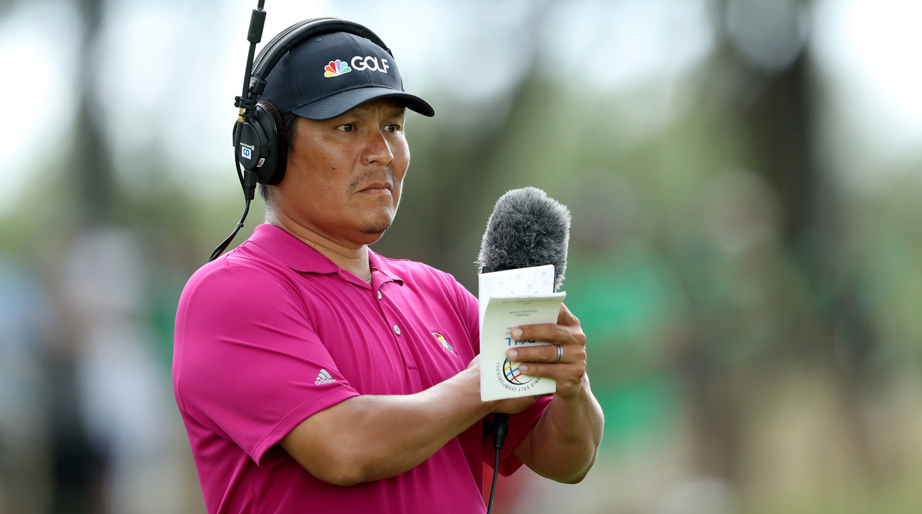Golf Channel's Notah Begay on the course during the third round of the 2017 Dell Match Play.
