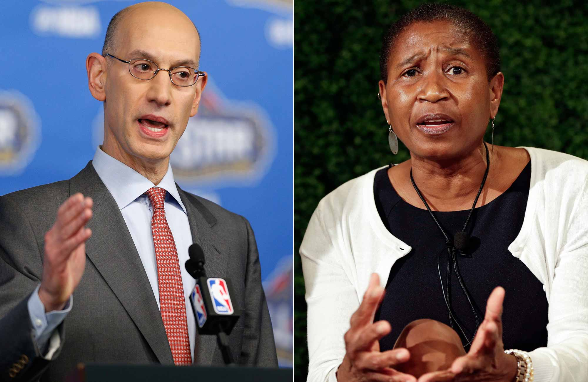 Adam Silver and Michele Roberts