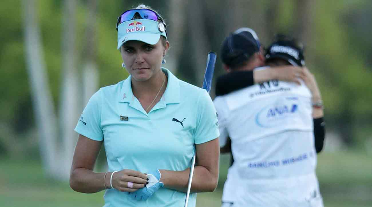 Thompson's four-stroke penalty at Mission Hills paved the way for winner So Yeon Ryu.