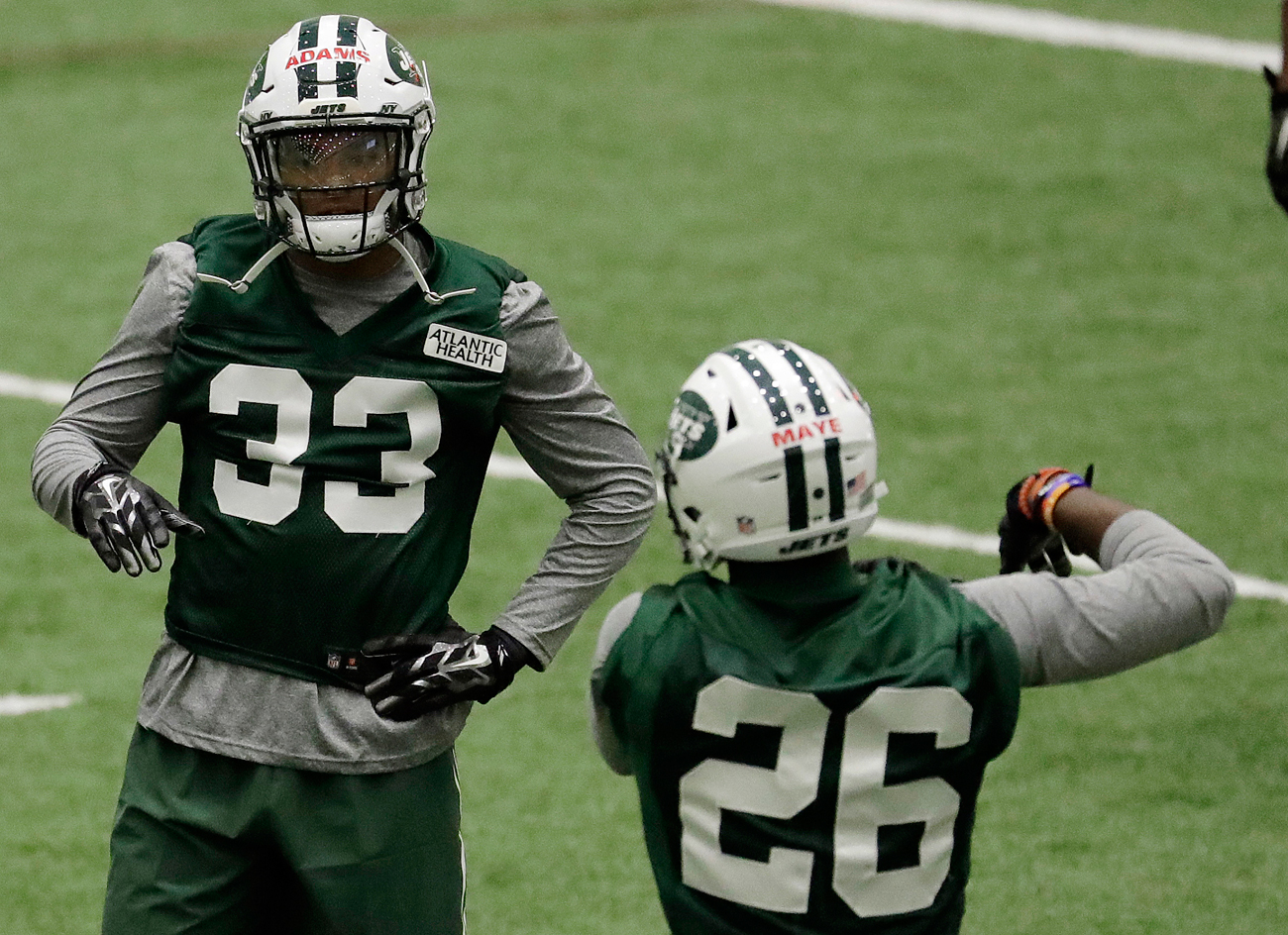 The Jets are anticipating big things from rookie defensive backs Jamal Adams (33) and Marcus Maye.