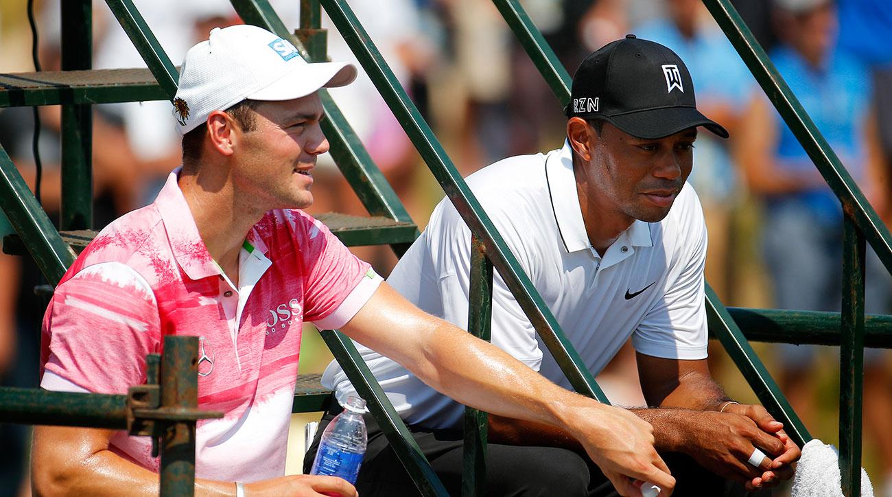 Martin Kaymer and Tiger Woods at the 2015 PGA Championship.