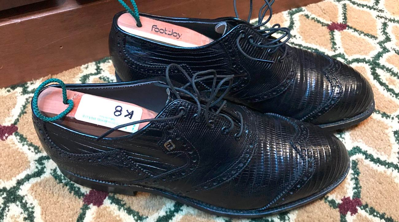 Zac Blair tweeted a photo of the FootJoy shoes he bought on eBay.
