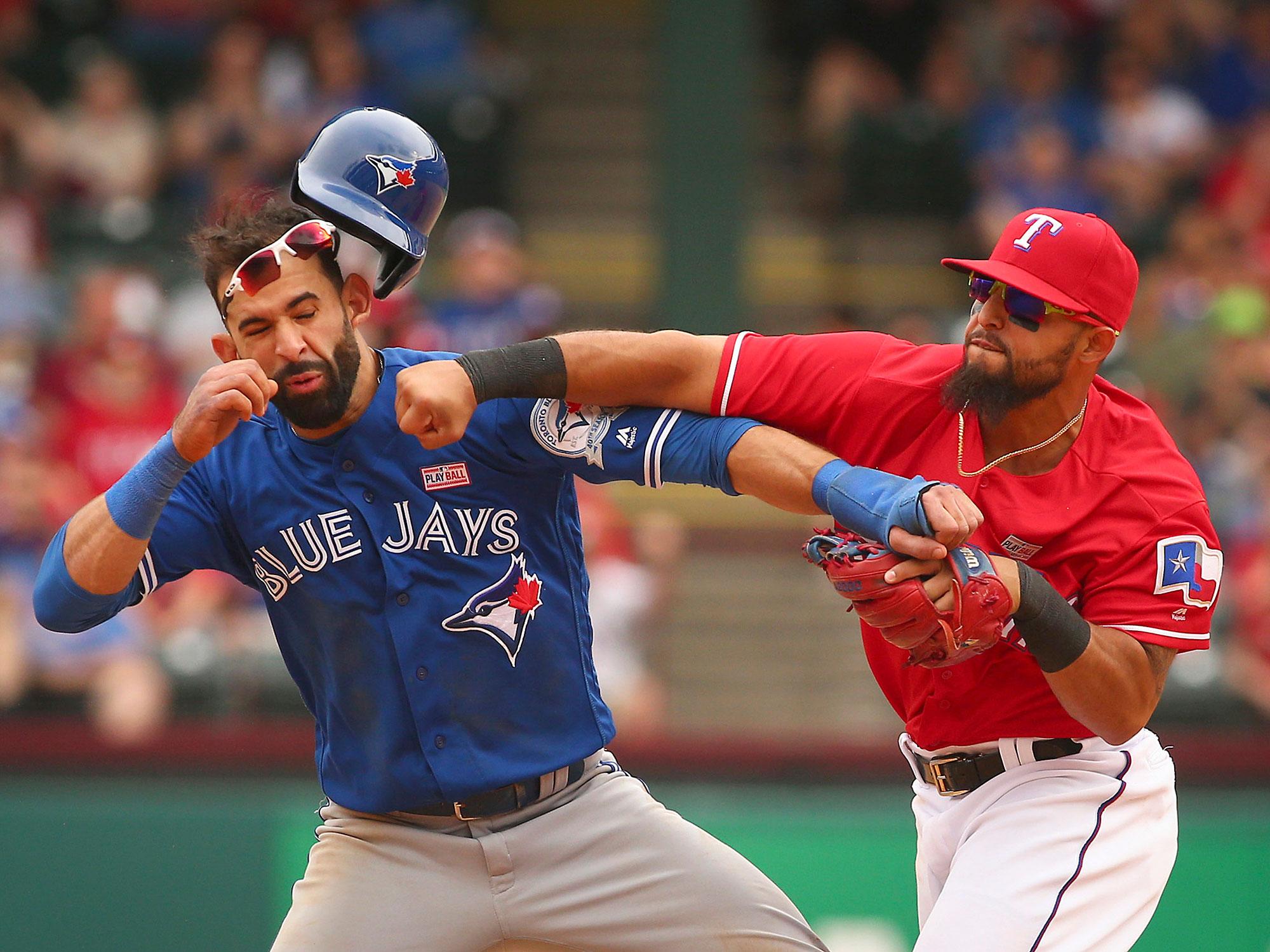 Rougned Odor, Texas Rangers; Jose Bautista, Toronto Blue Jays