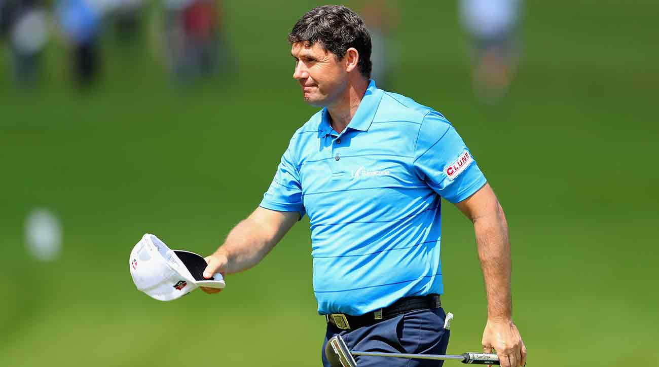 Padraig Harrington needed stitches after an accident on the golf course.