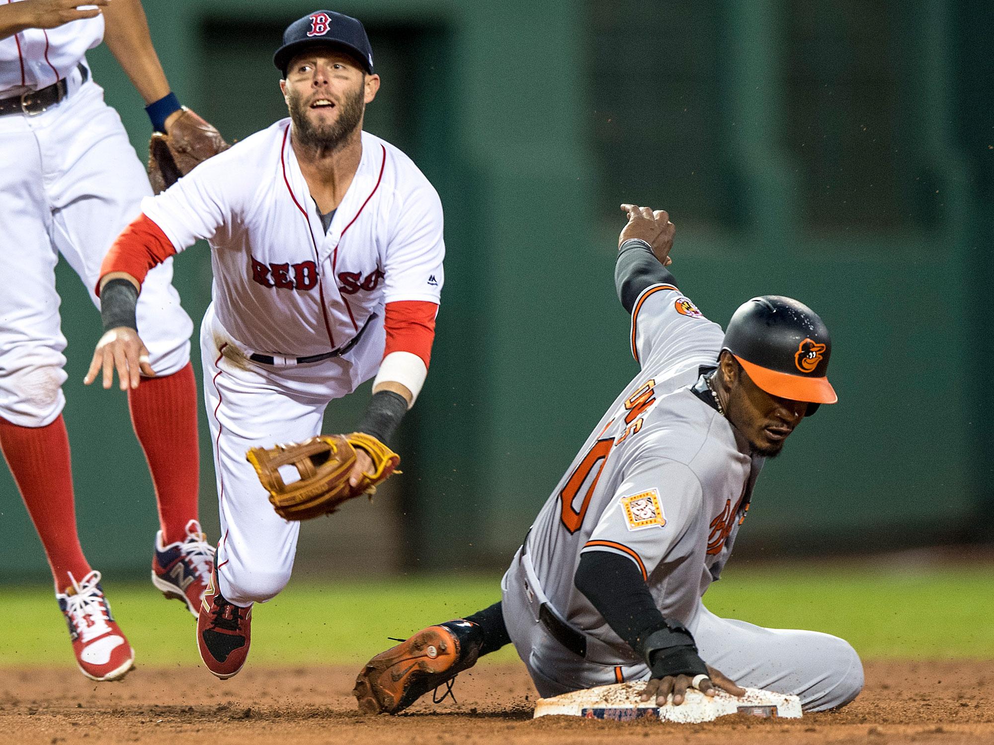Dustin Pedroia, Boston Red Sox; Adam Jones, Baltimore Orioles