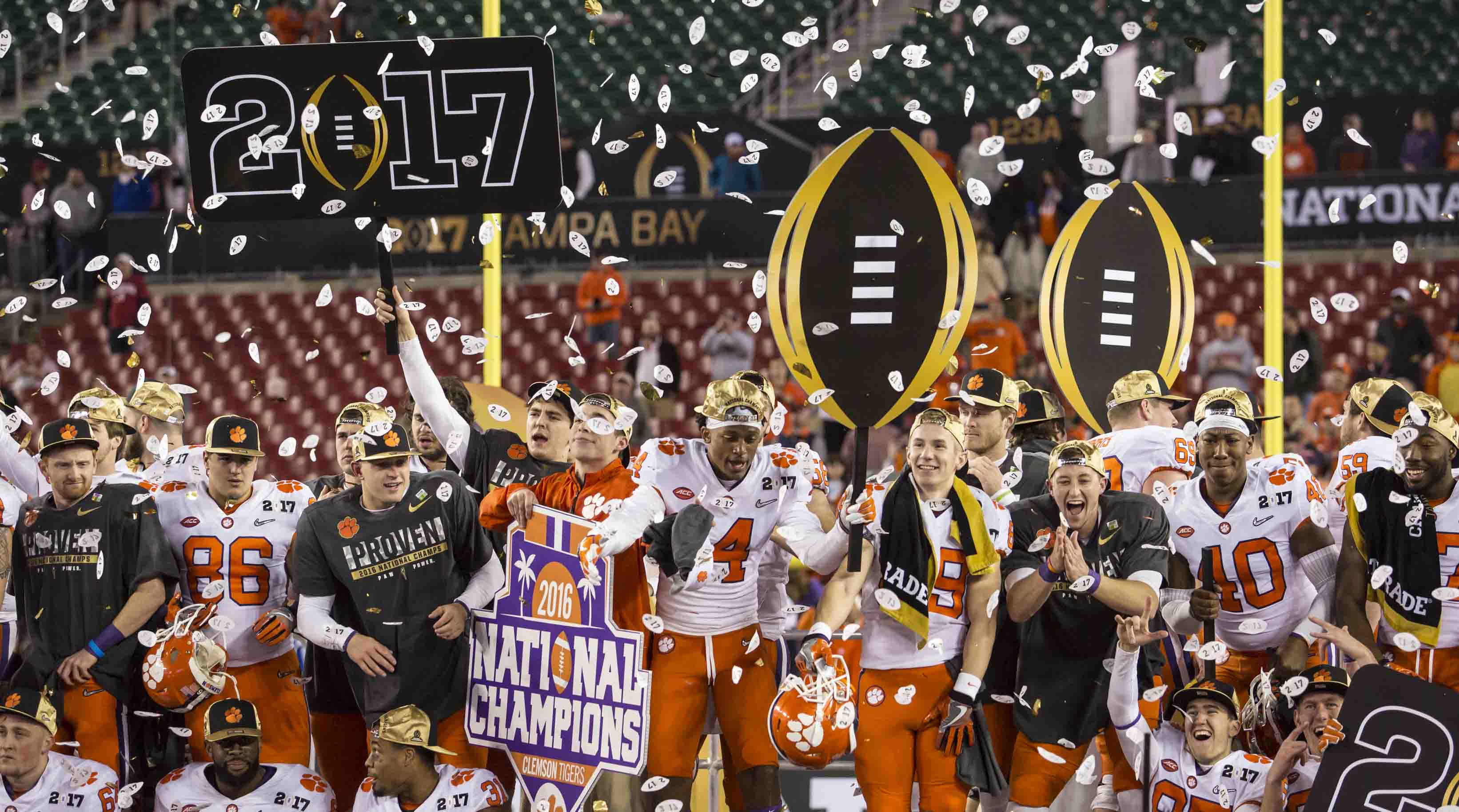 2017 05 kickoff time for national championship game - Clemson 35 Alabama 31 College Football Playoff National Championship On Jan 9 2017
