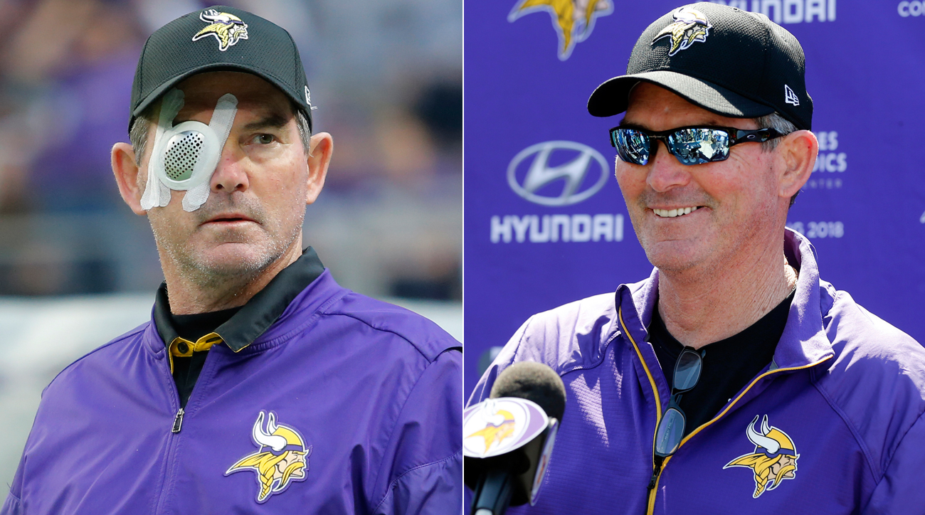 Vikings coach Mike Zimmer has undergone eight procedures to correct the eye problems he endured last season.