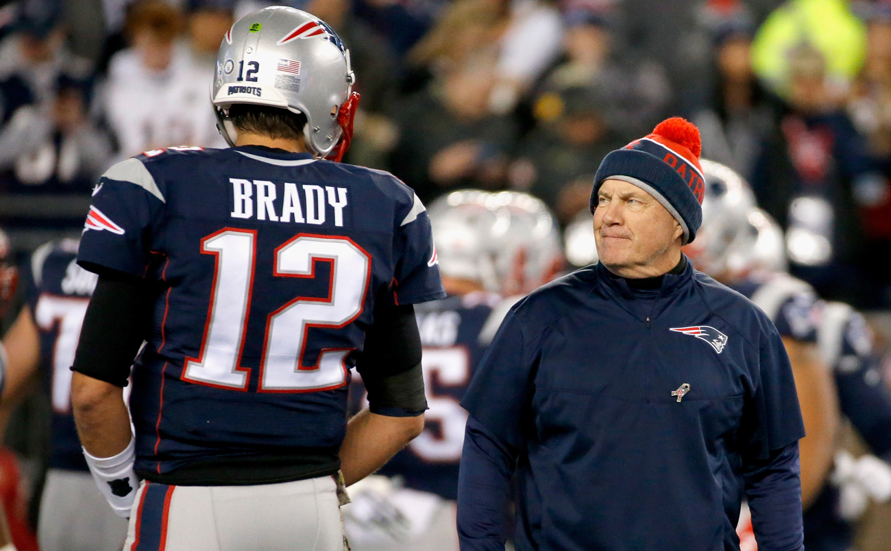 The Patriots have won five Super Bowls with Tom Brady at quarterback and Bill Belichick as head coach.