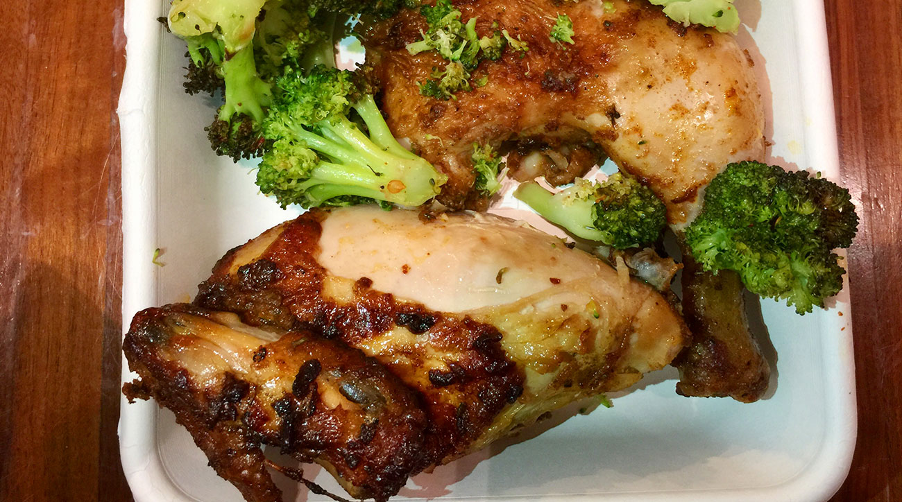 Chicken from Fields Good Chicken in NYC.
