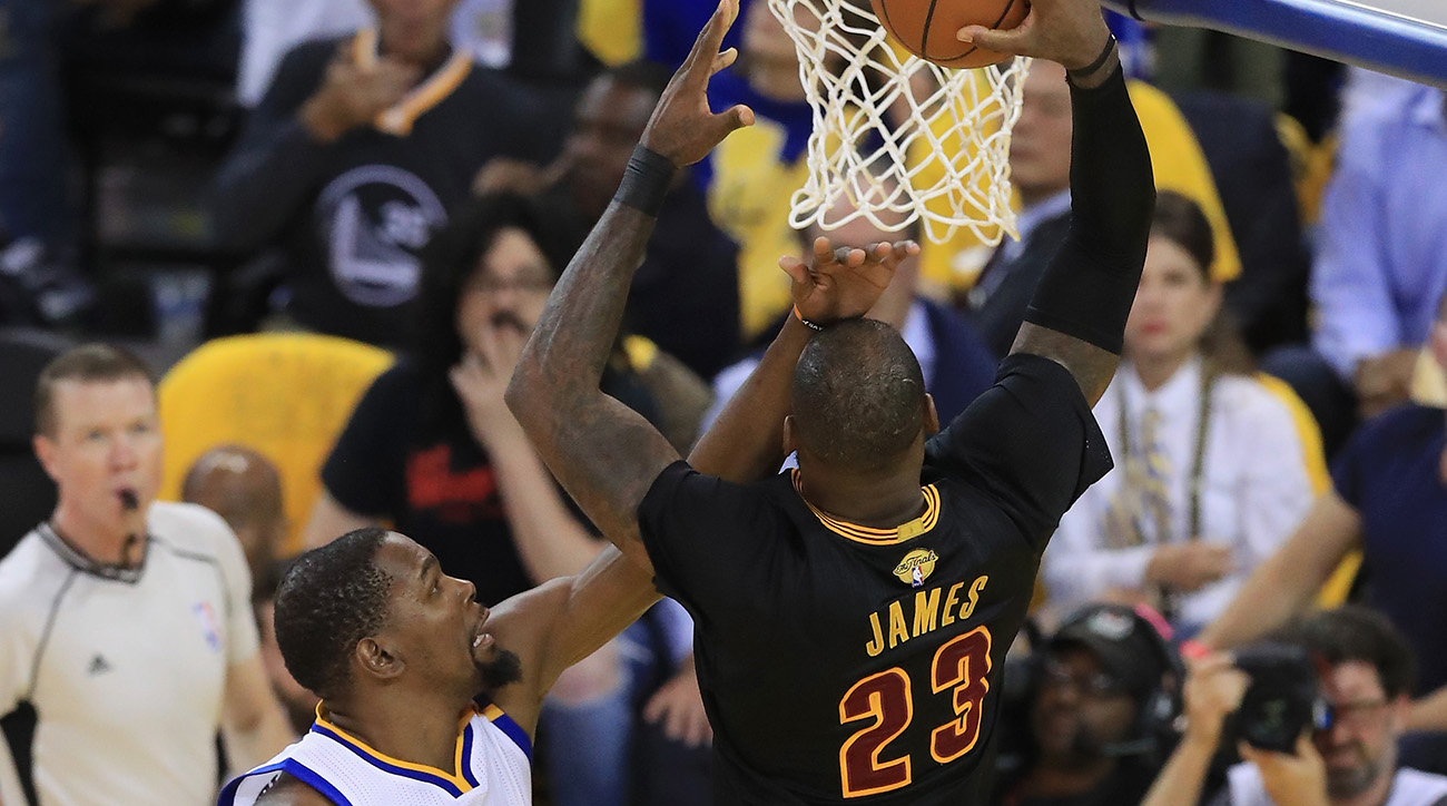 nba finals lebron james dunks on kevin durant twitter