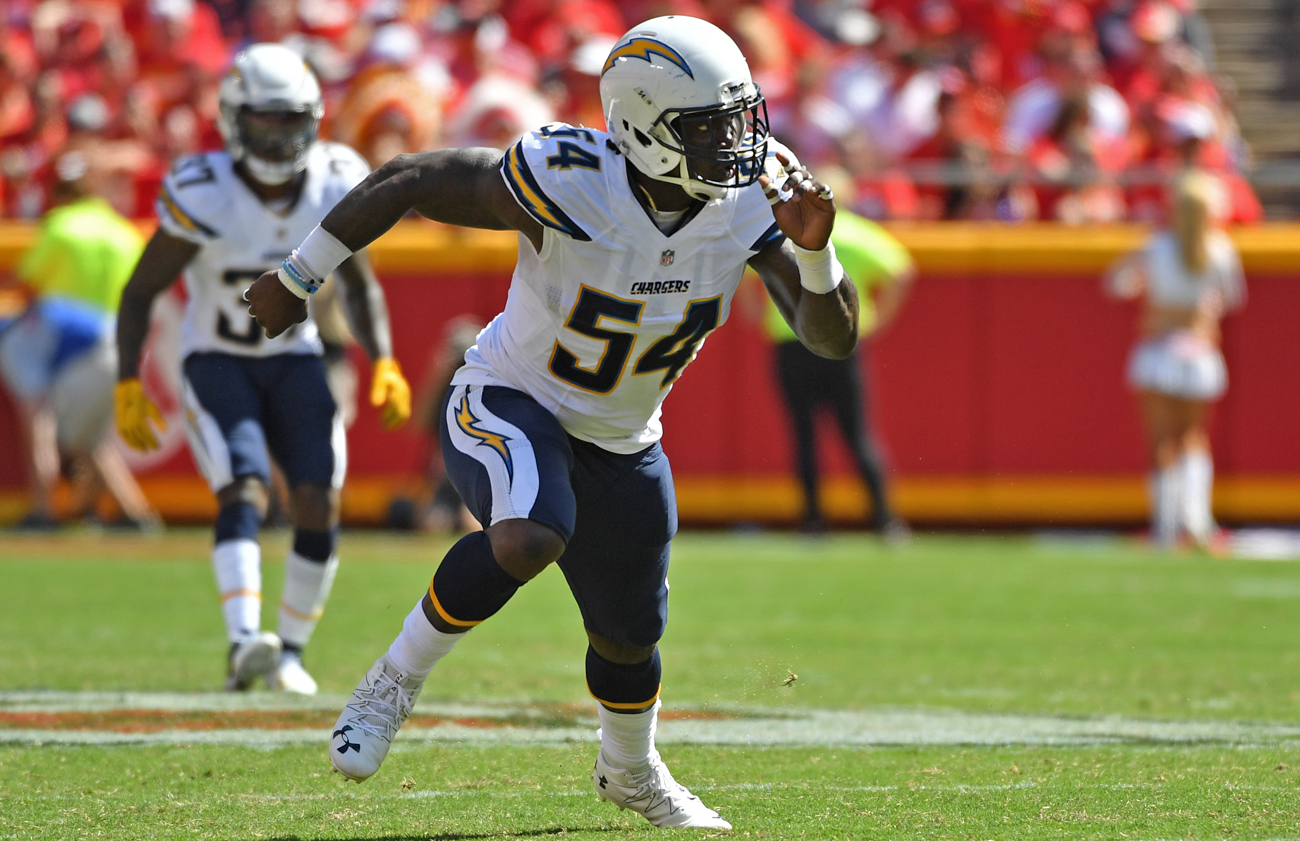 Melvin Ingram has 18.5 sacks over the past two seasons and started every game for the Chargers during that span.