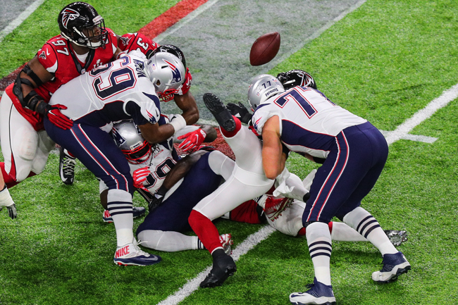 The fumble that Deion Jones caused in Super Bowl 51.