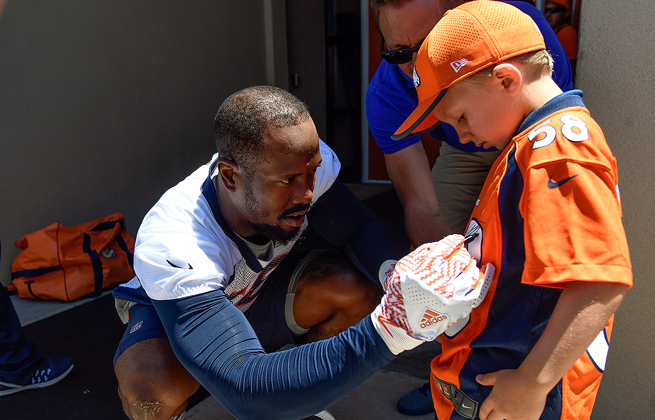 LB Von Miller in Denver, Colo.
