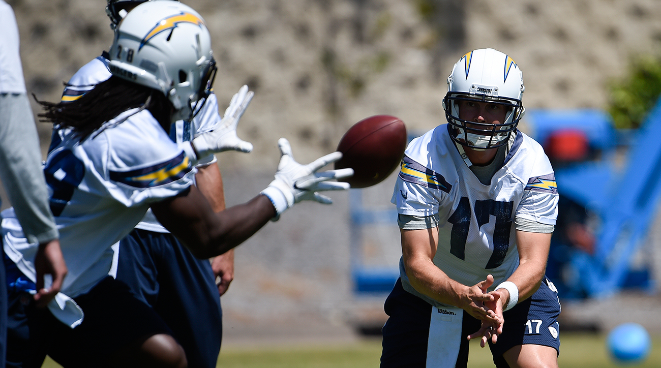 QB Philip Rivers and RB Melvin Gordon in San Diego, Calif.