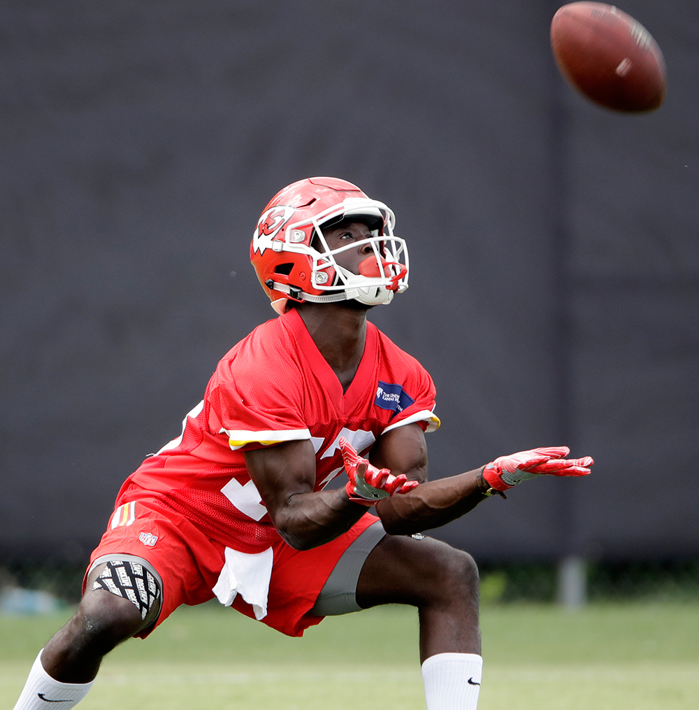 WR De'Anthony Thomas in Kansas City, Mo.