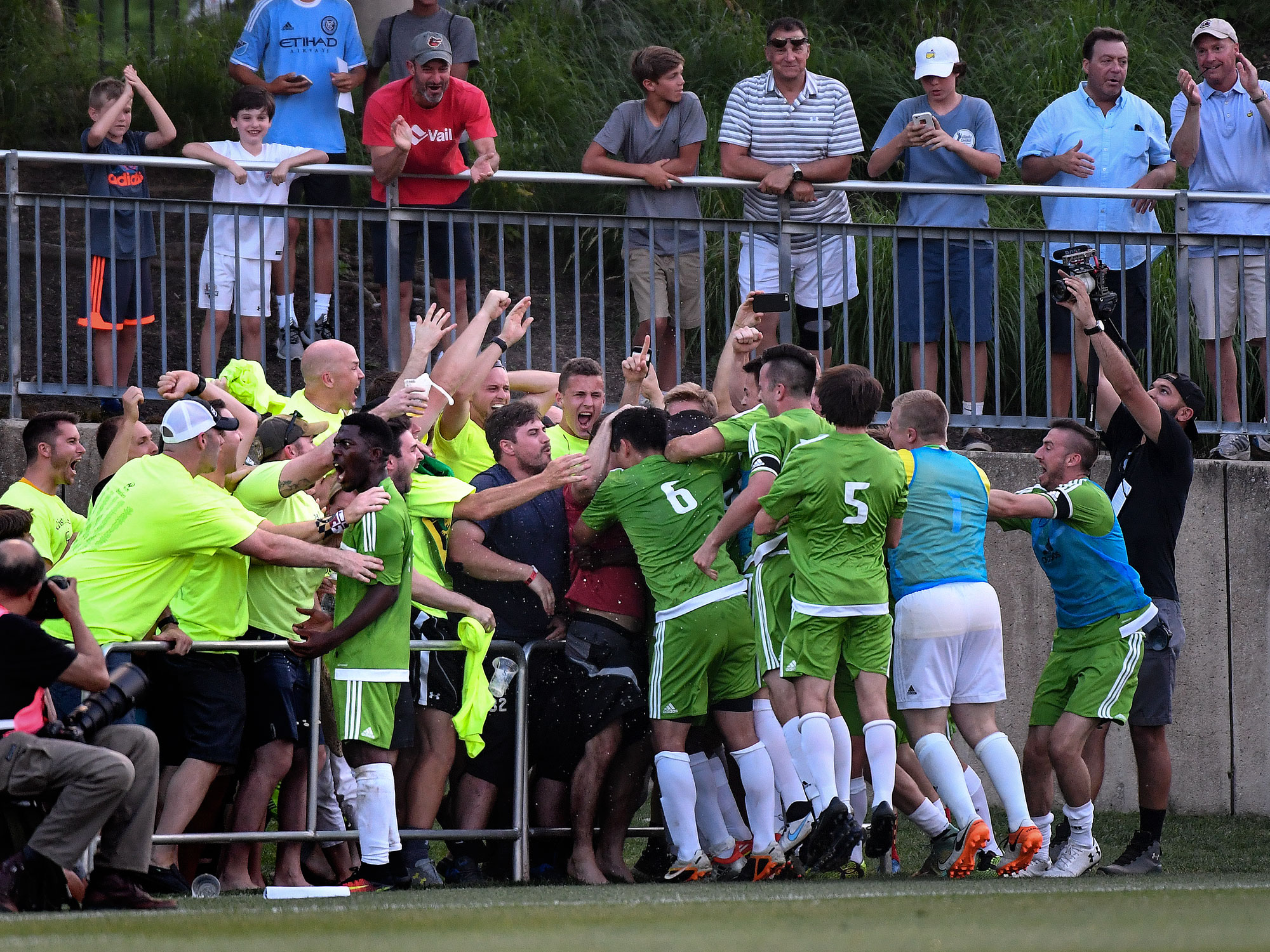 Christos FC scores a goal on D.C. United in the U.S. Open Cup