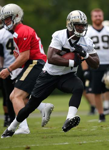 Peterson has been a full participant in the Saints offseason program after having surgery last September to repair his right knee.