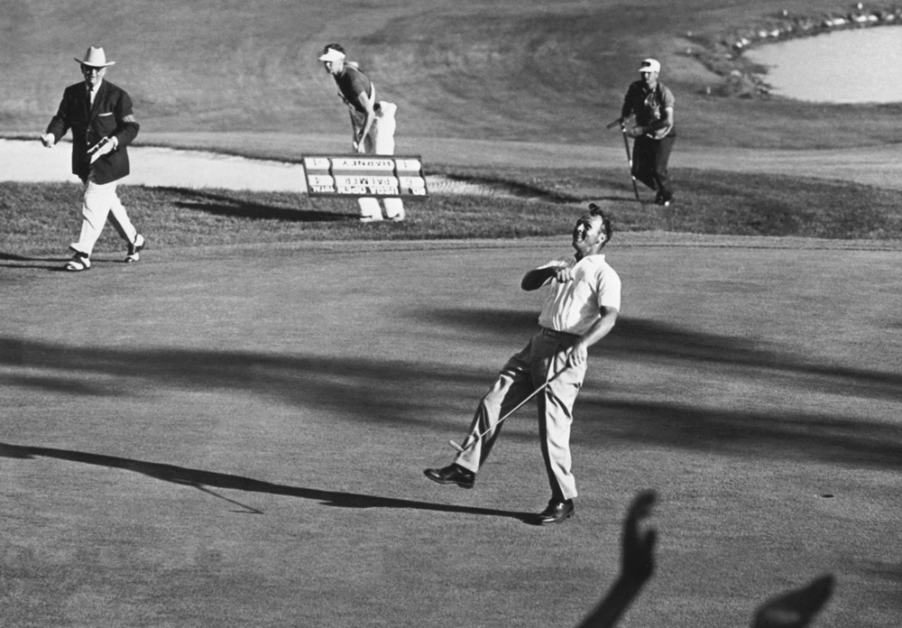 Arnold Palmer moments after winning the 1960 U.S. Open at Cherry Hills